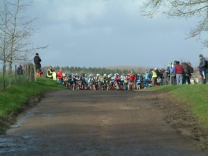 The startline at the London Cyclo Cross Team Championships