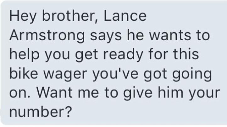 Dan Bilzerian Lance Armstrong message