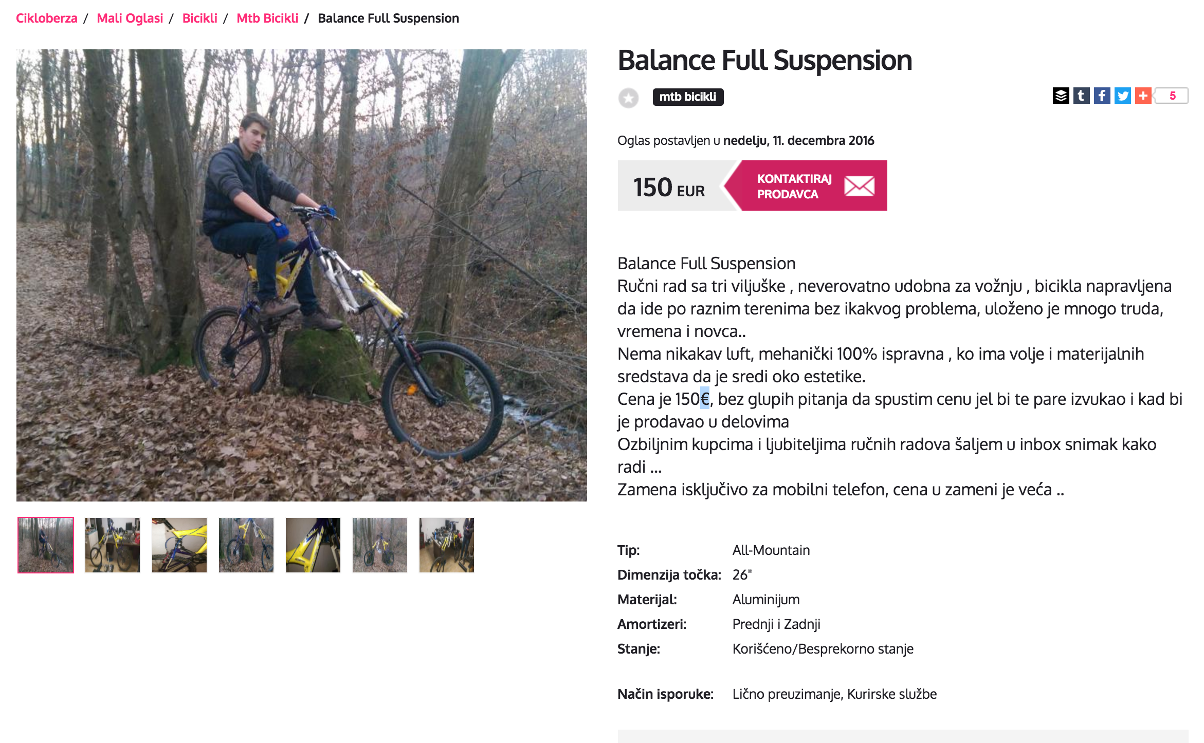 Full suspension mountain bike extra forks advert