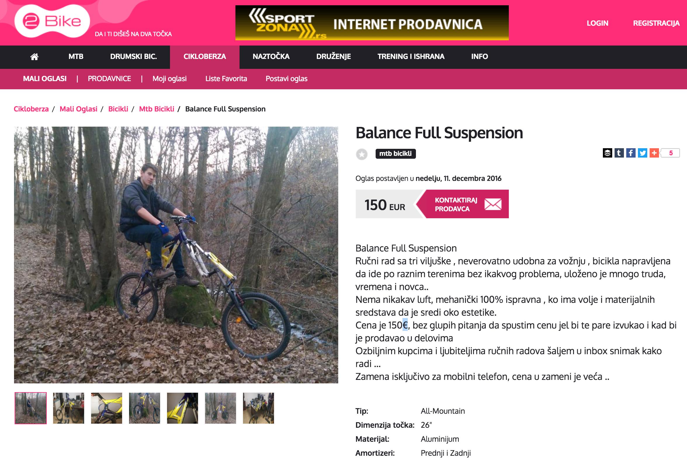 Full suspension Extra Forks advert