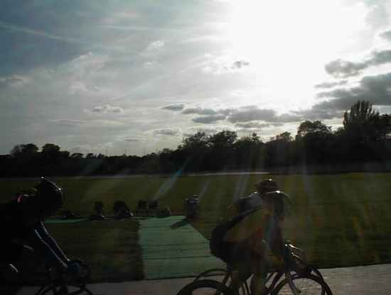 sunset at Herne Hill velodrome
