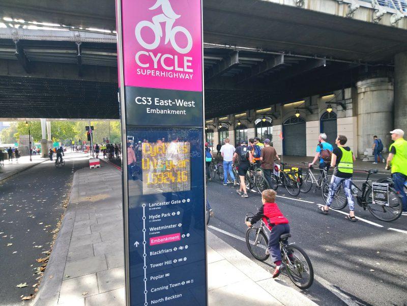 Young Dagenham Cyclist on Embankment