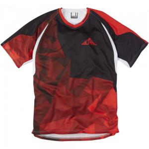 Madison Alpine men's short sleeve jersey, black / flame red small