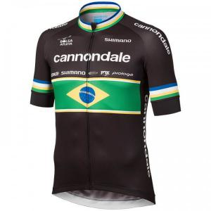 CANNONDALE FACTORY RACING Short Sleeve Jersey Brazilian Champion 2019 for men,