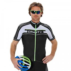 CRAFT Grand Tour black-white-green Short Sleeve Jersey for men