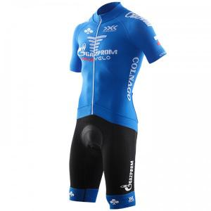 GAZPROM - RUSVELO 2018 Set (cycling jersey + cycling shorts) for men