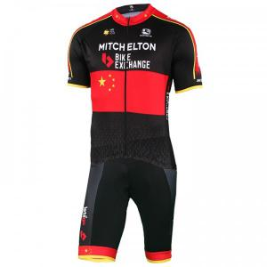 MITCHELTON - SCOTT Chinese Champion 2019 Set (cycling jersey + cycling shorts),