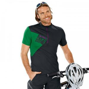QLOOM Creek black-green Bikeshirt for men