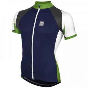 SANTINI Free blue-green Short Sleeve Jersey for men