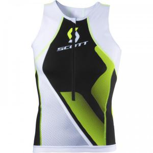 SCOTT Plasma neon yellow Tri Top for men
