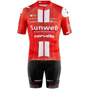 TEAM SUNWEB Aerolight 2020 Set (cycling jersey + cycling shorts) for men