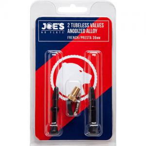 Joe's No Flats Tubeless Presta Alloy Valve Kit