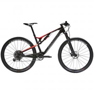 "ROCKRIDER 29"" Full Suspension Carbon Mountain Bike XC 900 S - Red/Black"