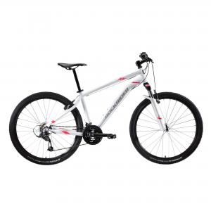 "ROCKRIDER Women's 27.5"" Mountain Bike ST 100 - White/Pink"