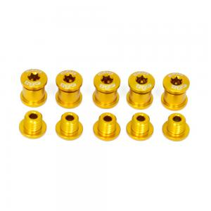 A2Z Chainring 5 Arm Bolt Kit In Gold
