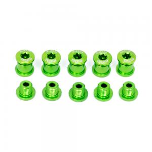 A2Z Chainring 5 Arm Bolt Kit In Green