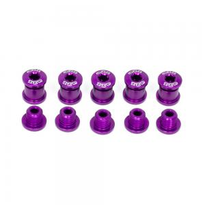 A2Z Chainring 5 Arm Bolt Kit In Purple