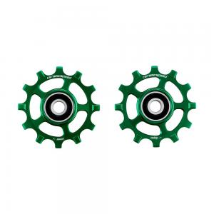 CeramicSpeed Campagnolo 12s Coated Road Pulley Wheels In Green
