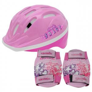 Cosmic Bike Helmet and Pad Set Childrens