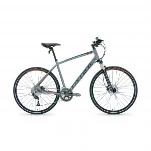 Carrera Crossfire 3 Mens Hybrid Bike 2020 - Grey - S, M, L Frames