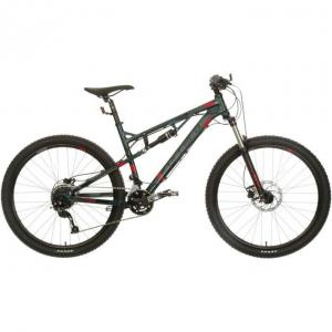Carrera Titan Mens Full Suspension Mountain Bike - S, M, L Frames, Green/Grey