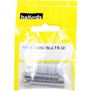 Halfords M6 x 35mm bolts