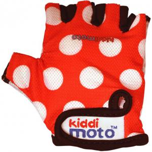 Kiddimoto Red Dotty Gloves Medium  325837