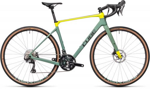 Cube Nuroad C:62 Race 11spd GRX Carbon Gravel Bike 2021 Green/Lime