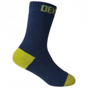Dexshell UltraThin Bamboo Socks Navy/Lime - Large