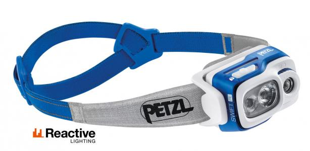 Petzl Swift RL 900 Lumen Head Lamp Blue