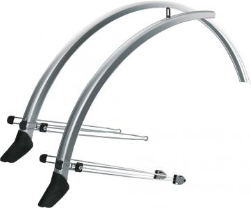 SKS Commuter Mudguard Set with Spoiler Silver