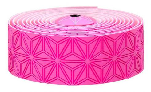Supacaz Super Sticky Kush Bar Tape Neon Pink/Neon Pink Plugs