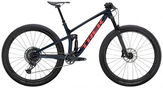 Trek Top Fuel 9.8 GX 29er Mountain Bike 2021 Carbon Blue Smoke/ Coral