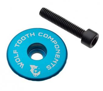 Wolf Tooth Ultralight Stem Cap And Bolt Blue