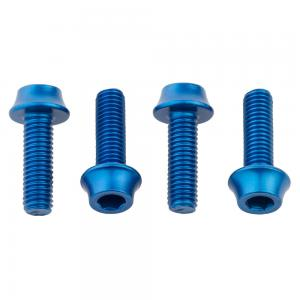Wolf Tooth Water Bottle Cage Bolts 4 Pack Blue