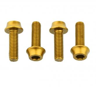Wolf Tooth Water Bottle Cage Bolts 4 Pack Gold