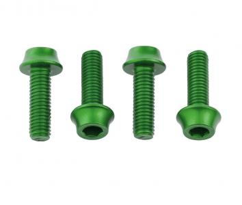 Wolf Tooth Water Bottle Cage Bolts 4 Pack Green