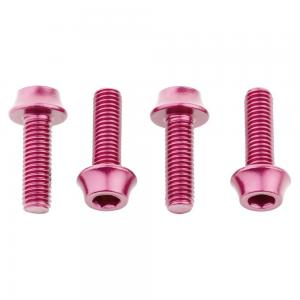 Wolf Tooth Water Bottle Cage Bolts 4 Pack Pink