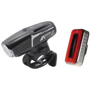 Moon Meteor-X Pro Front & Arcturus Pro Rear Rechargeable Bike Light Set 2019