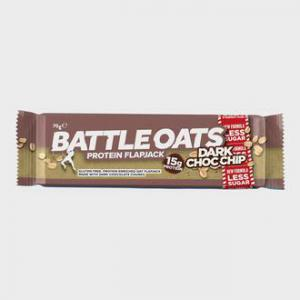 Battle Oats                             Protein Flapjack 70g (Dark Choc Chip)