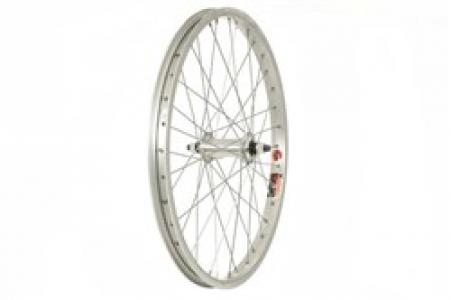 DiamondBack Silver 3/8 inch Nutted With ALEX J303 36H Rim Front BMX Wheel