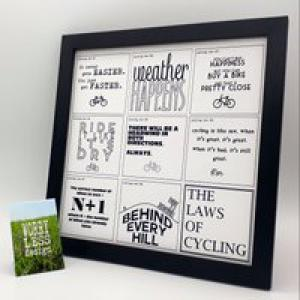 Worry Less Designs Cycling Laws Framed Print